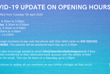 Covid-19 Update on Opening Hours
